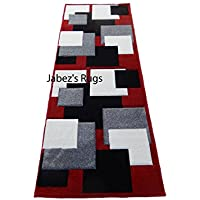 Prestige Persian Runner Red White Black Gray 3x8 Area Rug New Actual Size 27 x 74
