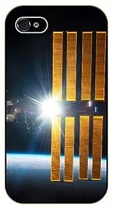 iPhone 5C NASA Satellite orbiting Earth - black plastic case / Space, Stars, Fantasy