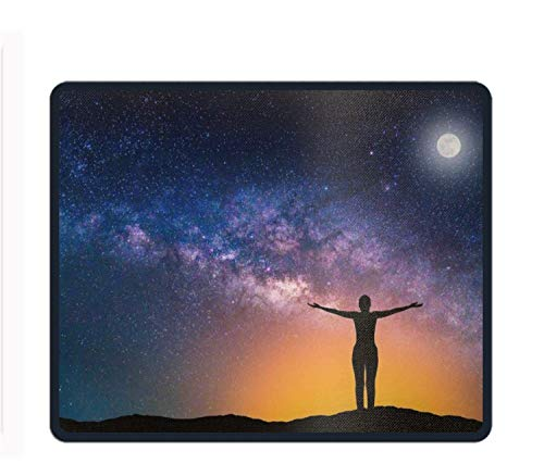 Non-Slip Rubber Mousepad Moon Full Mouse Pad 9.8 x 11.8 ()