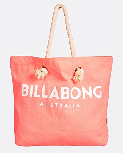 Tela Billabong Playa Rosa Tote L Bolsa x y H Mujer x para cm W 1x1x1 Essentials de Peach Neon de rTrq0RI