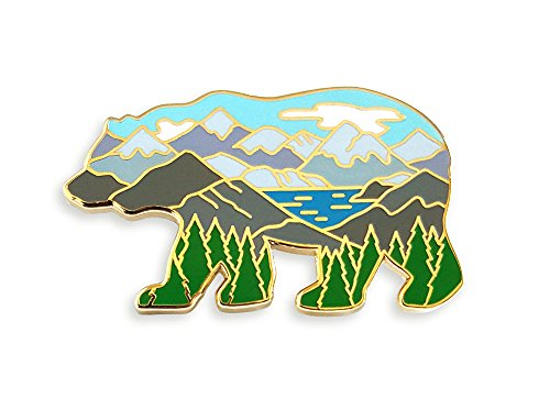 Pinsanity Bear Mountain Landscape Enamel Lapel Pin