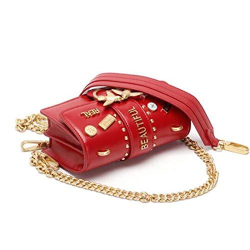 Boda Embrague Hombro Del El Red Tarde Yy4 Moda Cuero Para Mujeres Las Bolso De Crossbody Viaje Partido Pequeño La Monedero q1BwTpn7