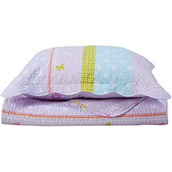 Amazon Com Brandream Pink Polka Dot Stripe Floral Quilt