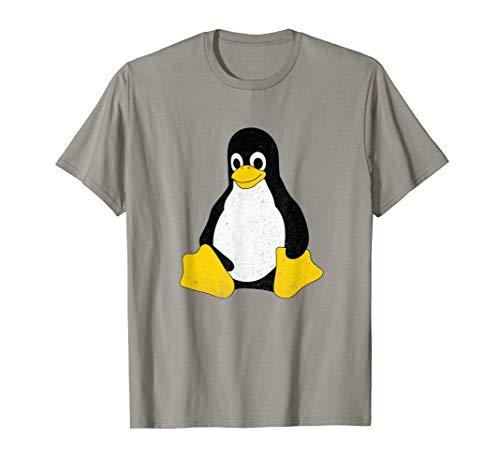 Linux Mascot Tux the Penguin Vintage T-Shirt Men Women Kids