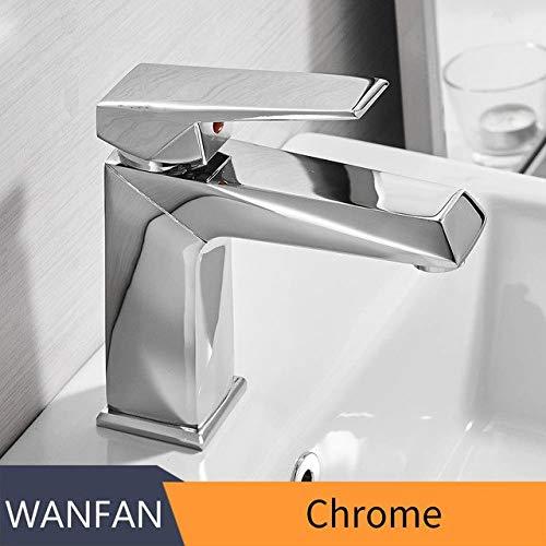 Chrome U-Enjoy Chandelier Faucet Retro Basin Black Taps Top Quality Bathroom Faucet Sink Faucet Single Hole Deck Vintage Handle Wash Hot Cold Mixer Tap Crane Free Shipping [Chrome]