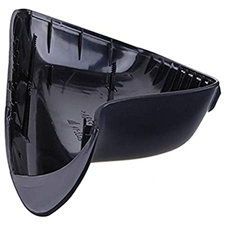 Gauche RETYLY Couvercle De R/éTroviseur Lat/éRal Noir Abs Cadre De R/éTroviseurs De Porte De Garniture Accessoire De Voiture Convient /à E46 E65 E66 E67