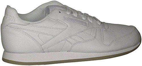 Reebok Women's Leather Crepe Neutral Pop Fashion Sneakers White/White 8 B(M) US