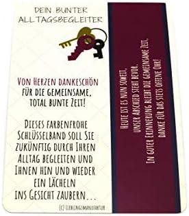 von Herzen dankesch/ön Schl/üsselanh/änger mit Botschaft zum Abschied danke sagen pers/önliches Geschenk f/ür Lehrer z.B Abschiedsgeschenk f/ür Lehrerin /& Ausbilderin in Grundschule