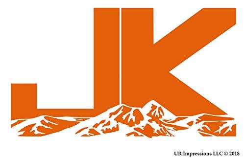 UR Impressions IOrn Jeep JK Mountains Decal Vinyl Sticker Graphics Wrangler 4x4 Unlimited Sahara Rubicon Moab Overland Arctic SUV Walls Windows Laptop|Intense Orange|7.5 X 4.4 (Translucent Headlight Decal)