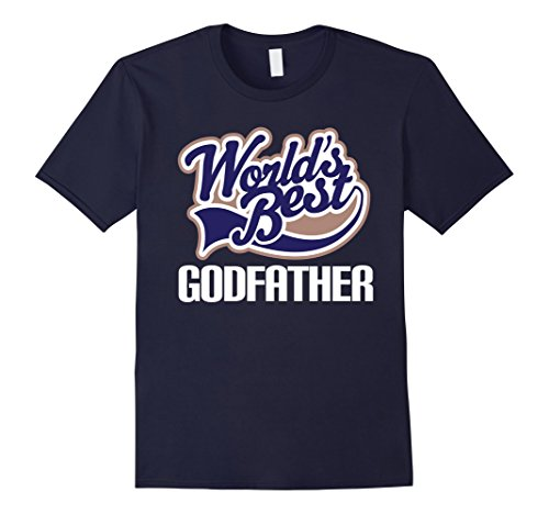 Worlds Best Godfather T-shirt Godparent Gift Tee - Male 2...