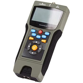 Monoprice 108128 Professional Coaxial RJ-45 and RJ-11/12 Multifunction Tester with LCD Display
