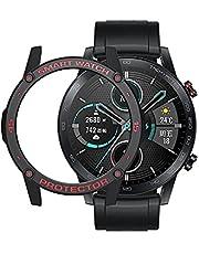 غطاء ساعة من السيليكون بدون شاشة مقاس 46 ملم باللون الاسود والاحمر يتوافق فقط مع الساعة الذكية من هونر ماجيك 2 ولا تتوافق مع اي نوع اخر