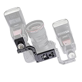 Image of Camera Brackets BP1 Paparazzi Mini Flash Bracket for all DSLRs and Mirrorless cameras Arca-Swiss type Plate Mount Modular design can be modified for left or right side of the camera (Canon, Nikon, Sony, Pentax etc.)