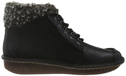 Leather Black Botines Mujer Girl Negro Clarks Funny Combi para x8gSY81q
