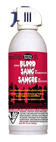 Fake Blood - Realistic Looking Fake Blood - Sprays on - Halloween, Theatre and Costume Decoration - Scene Development - Washes Off - Doesn't Peel When Dry - 10 oz -
