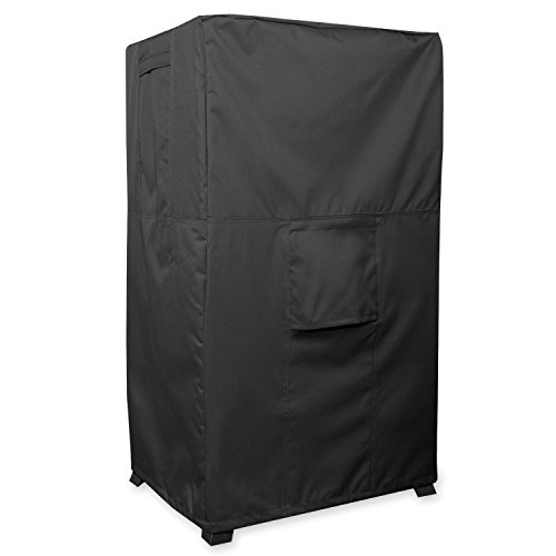 KHOMO GEAR - PANTHER Series - Heavy Duty Outdoor Black Smoker Cover Protector 17'' x 20'' x 35.5'', Black by KHOMO GEAR