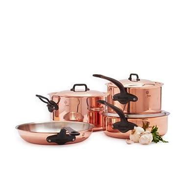 Mauviel 6600.07 Copper Cookware Jacques Pepin Collection 7 pc Set, 7 Piece
