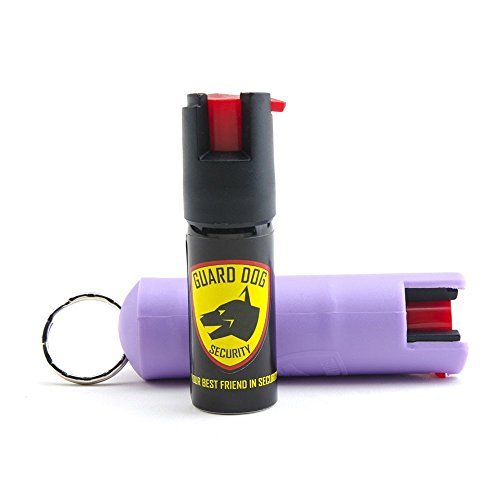 Guard-Dog-12-Ounce-18-OC-Hard-Case-Pepper-Spray-Keychain-w-Belt-Clip-Purple