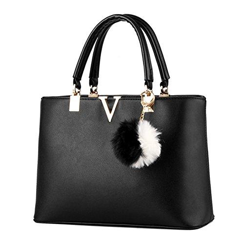 SILI Women Faux Leather Handbag Zipper Shoulder Bag Top Handle Handbag Fashion Designer Lady Purse