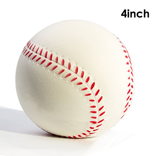 quishy Sweet Scented Vent Charms Slow Rising Baseball squishies Kid Toy , Lovely Stress Relief Toy, Decorations Gift Fun Large(Baseball) (Baseball Stress Ball)
