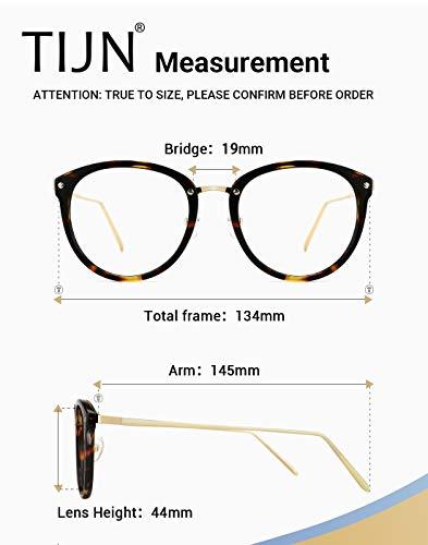4d015614d97a ... TIJN Vintage Round Metal Optical Eyewear Non-prescription Eyeglasses  Frame for Women ...