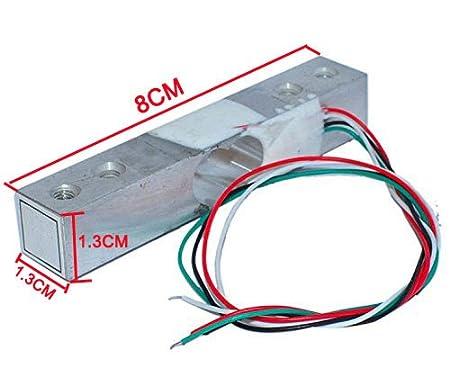 Aihasd Celda de Carga Digital Sensor de Peso 10kg Portátil Escala electrónica de la Cocina + Sensores de pesaje HX711 Módulo de anuncios para Arduino: ...