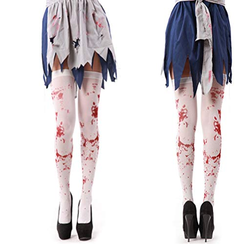 Accessori Sexy - Halloween Girls Knee Sock Blood Printed Stockings Over The Thigh Sexy Meia Calca Festival Accessory - Accessori Accessories Sexy Girls]()