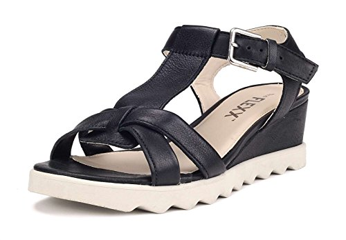 Flexx Wedge Litchies Woman Sandal Black The dx1Pd