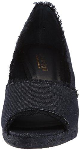 Lauren Ralph Lauren Women's Carmondy-ES-CSL Espadrille Wedge Sandal Dark Blue 66o1HJEQFs