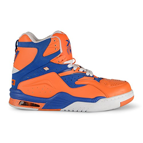 British Knights Enforcer HI Dc Men's Hi-Top Leather SneakerOrange/Royal/White, 9.0
