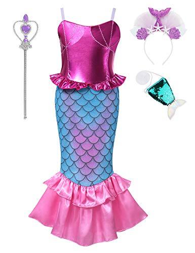 Muababy Baby Girl Ariel Mermaid Costume Pageant 3D