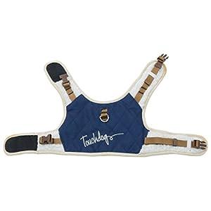 touchdog Tough-Boutique' Adjustable Fashion Designer Pet Dog Harness and Leash Combination, X-Small, Royal Blue