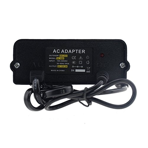 Anlapus DC 12V 2A Power Supply Adapter for CCTV Camera System and Digital Record Video