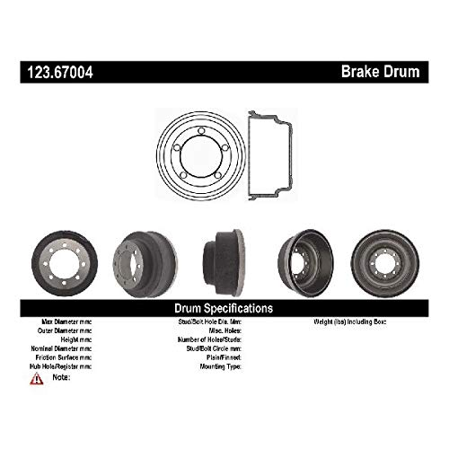Parts Panther OE Replacement for 1975-1980 Plymouth PB300 Rear Brake Drum (Voyager) (Pb300 Drum Brake Plymouth)