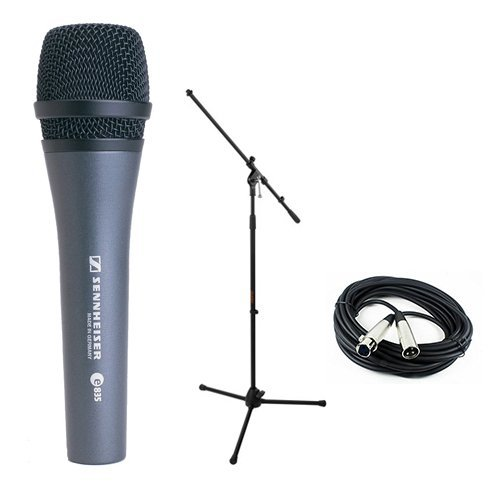 Sennheiser E835 Dynamic Handheld Vocal Mic with Stand & Cable Performance Kit by Sennheiser
