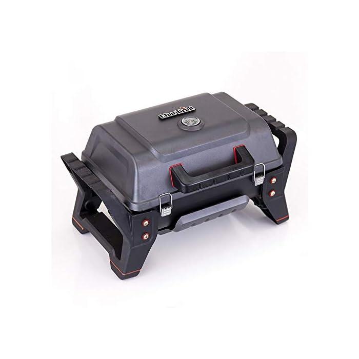 41b0Uk5%2BpmL TRU-Infrared Sistema de cocción: cocina los alimentos uniformemente, con menos llamaradas, para que sean un 50 % más jugosos consumiendo un 30 % menos de gas. Quemador de acero inoxidable: fuerte, resistente y hecho para durar. Encendedor electrónico: enciende la barbacoa con solo pulsar un botón.
