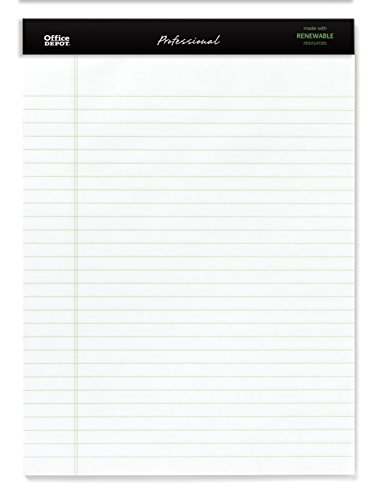 - Office Depot Sugar Cane Paper Perforated Pads, 8 1/2in. x 11 3/4in, 50 Sheets, White, Pack Of 12 Pads, 95074