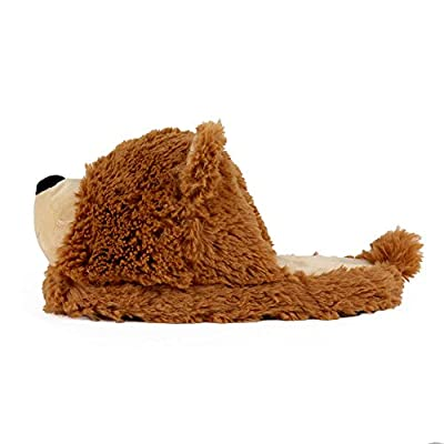 AnimalSlippers.com Fuzzy Bear Slippers - Plush Teddy Animal Slippers Brown, 7-10.5   Slippers