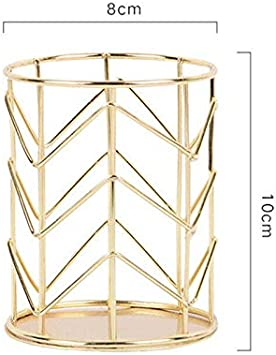SUPERTOOL rete metallica bello e durevole dorato oro rosa e oro 1 pezzo organizer per trucchi squisito forchetta e coltelli porta pennelli//penne