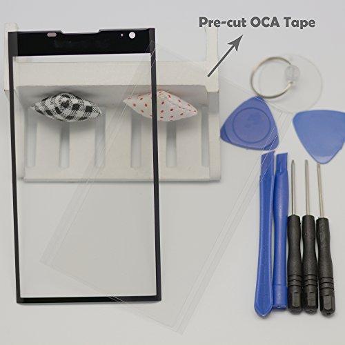 Eaglestar Black Priv Front Panel Outer Screen Glass Lens Replacement for BlackBerry Priv STV100-1 STV100-3 STV100-4 +Pre-Cut OCA Tape+Tool Kit/Only Glass,No LCD Screen