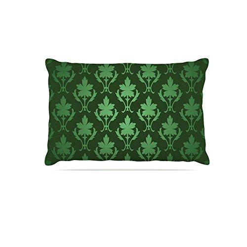 Kess InHouse Emerald Damask  Pattern Fleece Dog Bed, 50 by 60 , Green