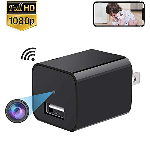 ENKLOV WiFi Charger Camera, 1080P Wireless IP Hidden Camera, HD USB Wall Spy Camera, Home Security Nanny Cam Support Windows/iOS iPhone/Android Phone APP Remote View