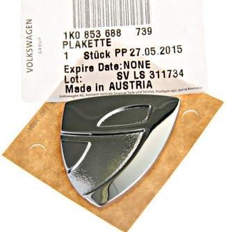1K0853688 739 Volkswagen Original VW Individual Fender Wing Side Badge Emblem Chrome