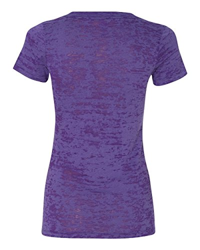 Free Next Level Apparel 6540 Burnout Crossover V-Neck Tee - Purple Rush44; Large