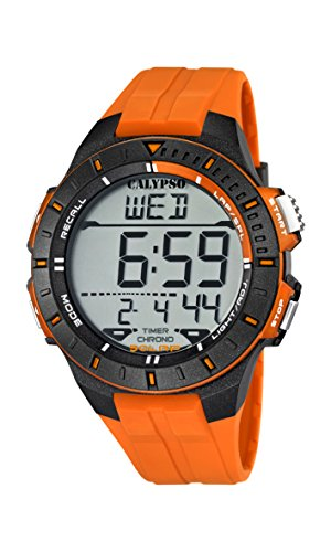 Calypso watches K5607/1 – Reloj Hombre Naranja Sumergible, color naranja