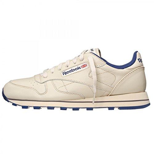 Reebok CLASSIC LEATHER 28412 Unisex-adult Sports Shoe, Beige 12 UK Over-Size