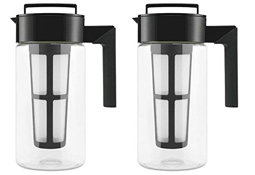 Takeya Cold Brew Iced Coffee Maker, 1-Quart, Black - 2 Pack by Takeya
