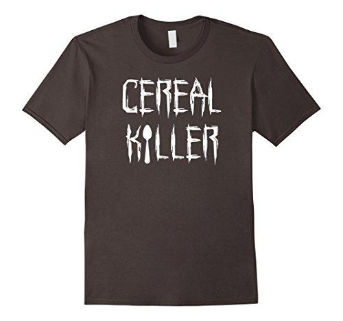 Mens Cereal Killer Funny Spoon Serial Halloween Costume Tee Shirt Medium Asphalt