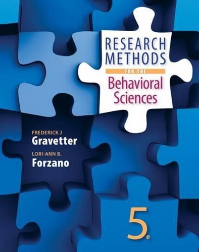 Research Methods for the Behavioral Sciences (MindTap Course List)