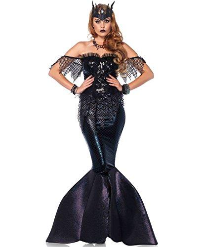 [Leg Avenue Dark Water Siren Halloween Costume - Black - S] (Siren Costume Halloween)